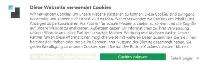 Anforderungen an Cookie-Banner